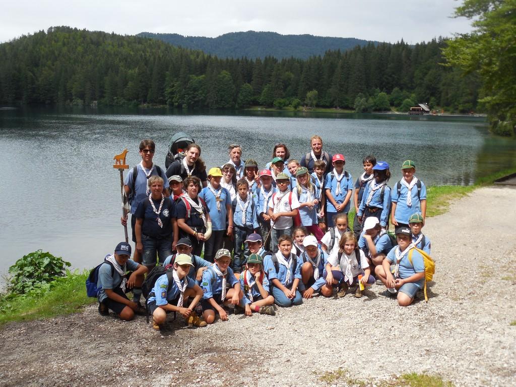 Foto di gruppo ai laghi di Fusine (2014)